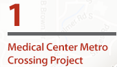 Medical Center Metro Crossing Project Anticipated completion: Fall 2018  Improvements:  Construction of a pedestrian and bicycle tunnel under MD-355 at South Drive and construction of high speed elevators for direct Metro access on east side of MD-355.